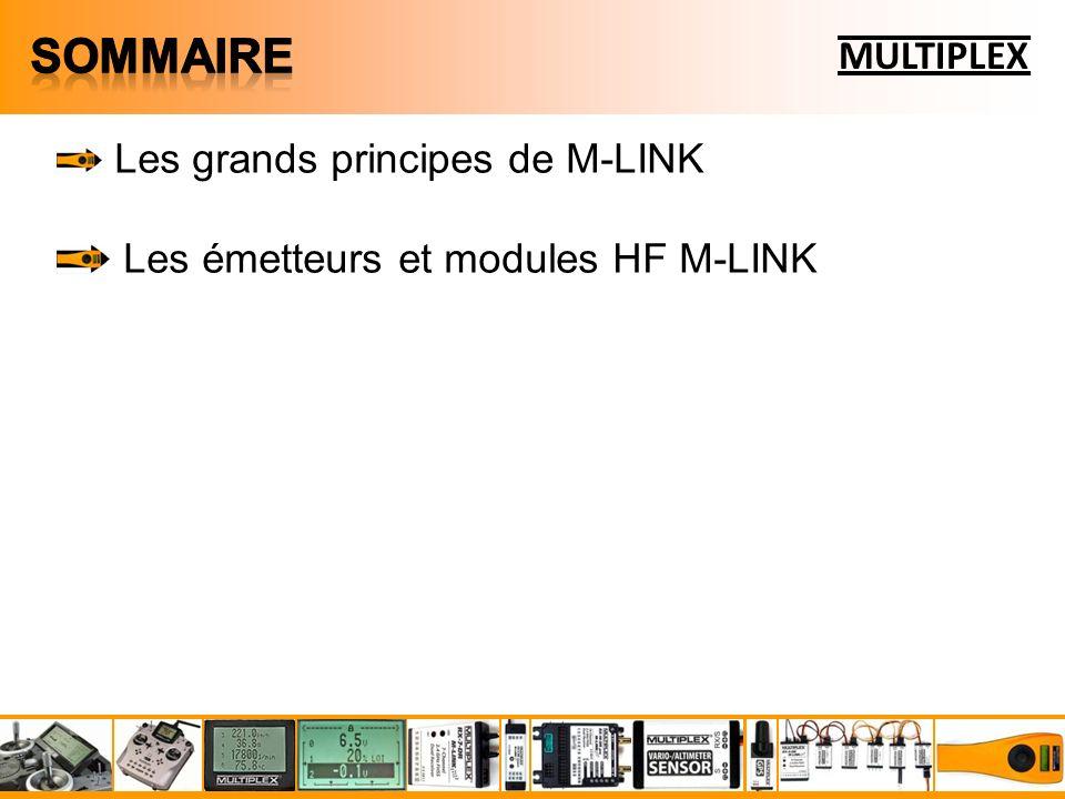 Sommaire MULTIPLEX Les émetteurs et modules HF M-LINK