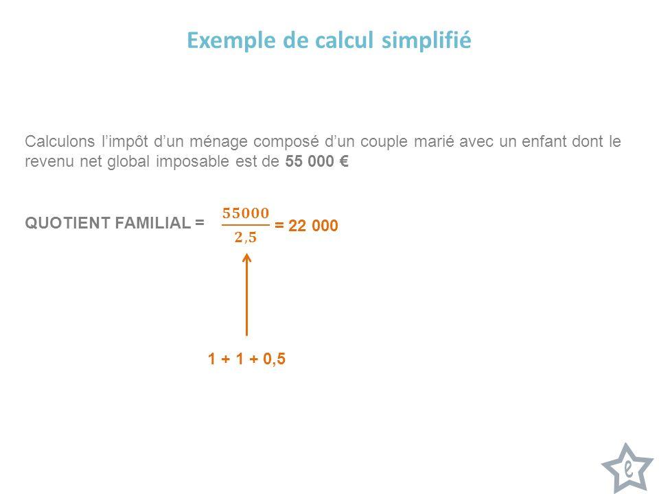 Exemple de calcul simplifié