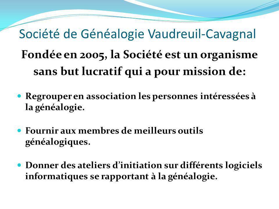 Société de Généalogie Vaudreuil-Cavagnal