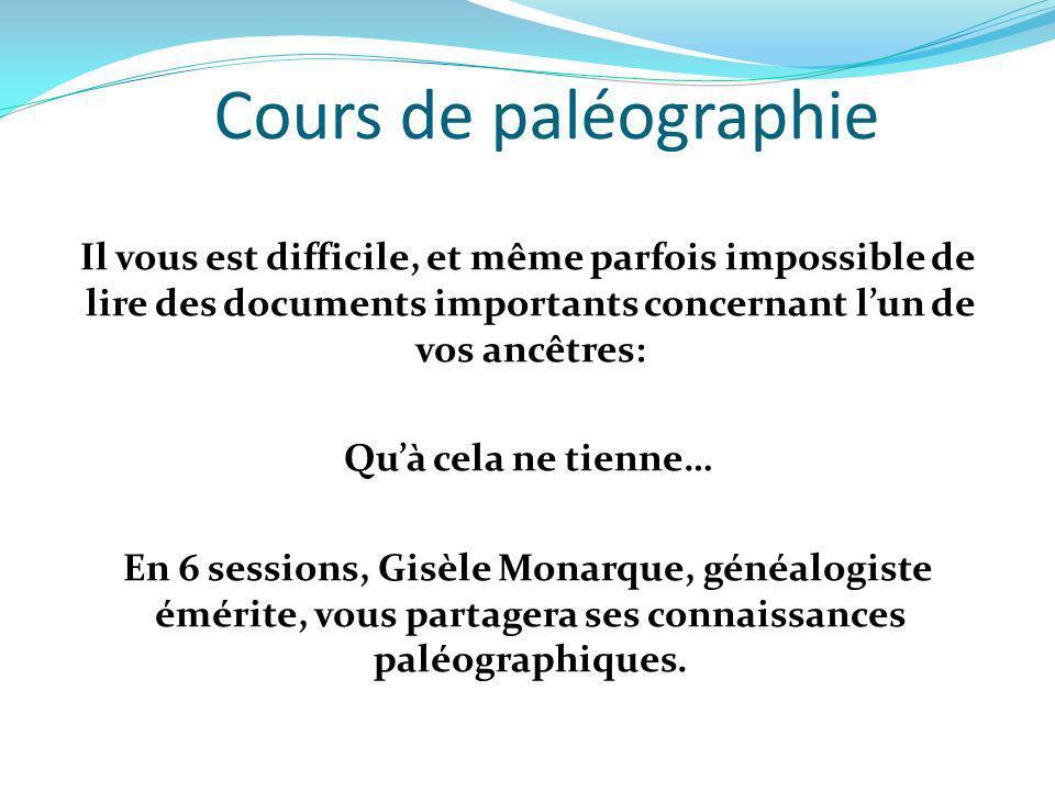 Cours de paléographie