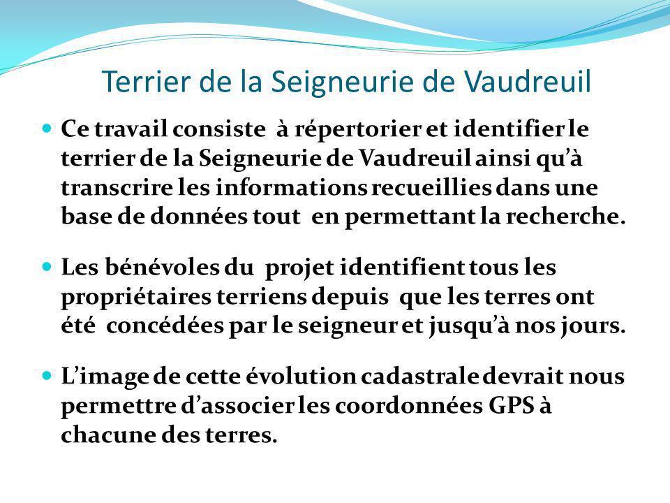 Terrier de la Seigneurie de Vaudreuil