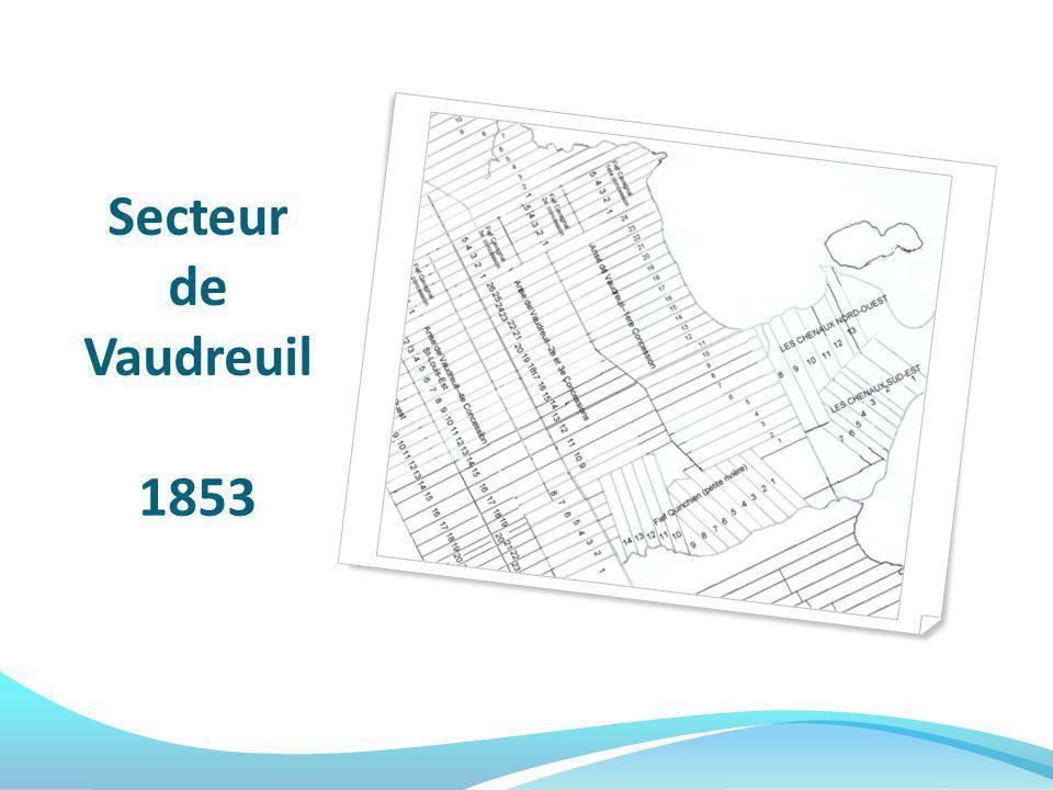 Secteur de Vaudreuil 1853