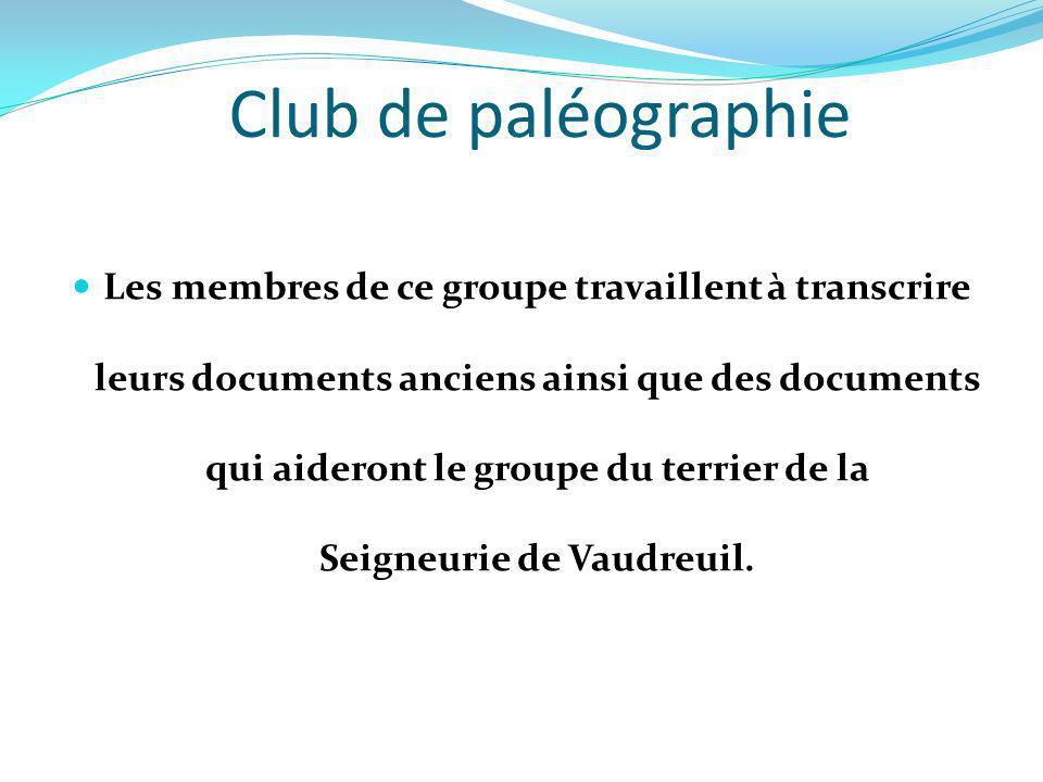 Club de paléographie