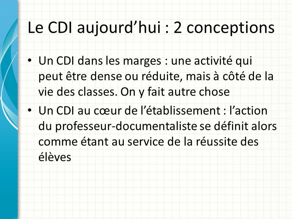 Le CDI aujourd'hui : 2 conceptions