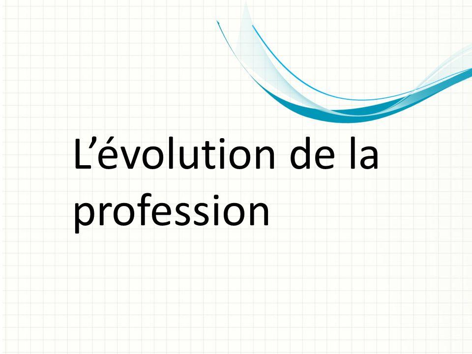L'évolution de la profession