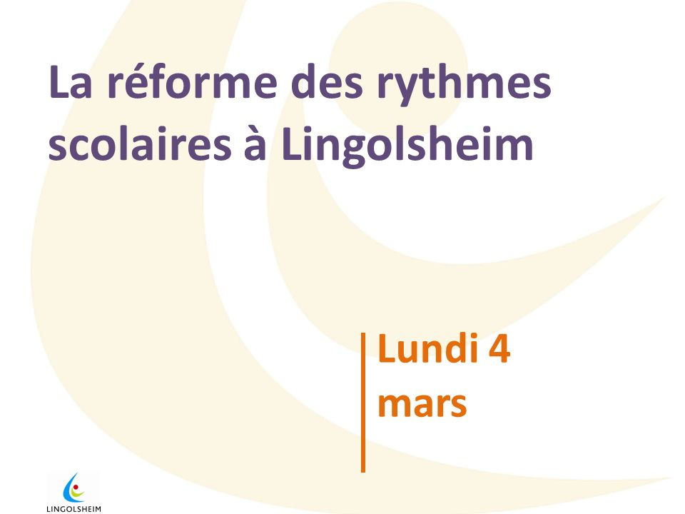 La réforme des rythmes scolaires à Lingolsheim