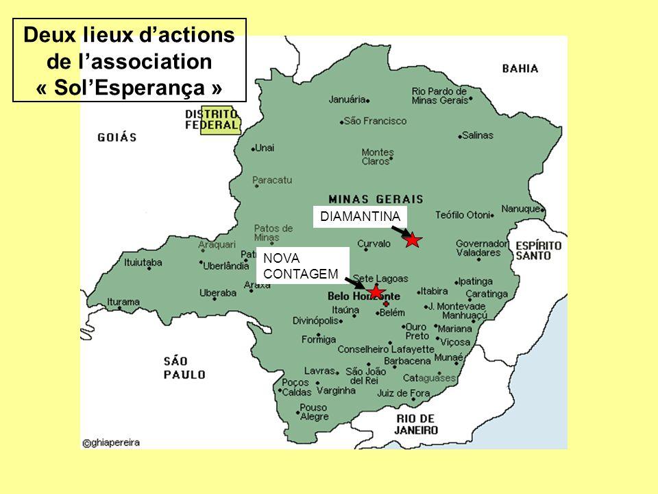 Deux lieux d'actions de l'association « Sol'Esperança »