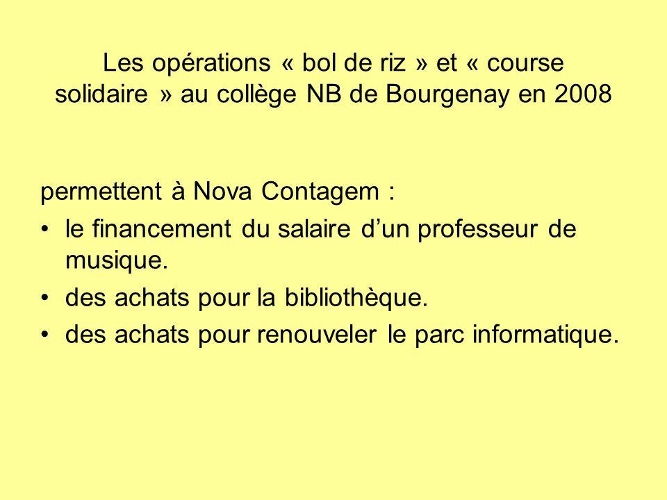 Les opérations « bol de riz » et « course solidaire » au collège NB de Bourgenay en 2008