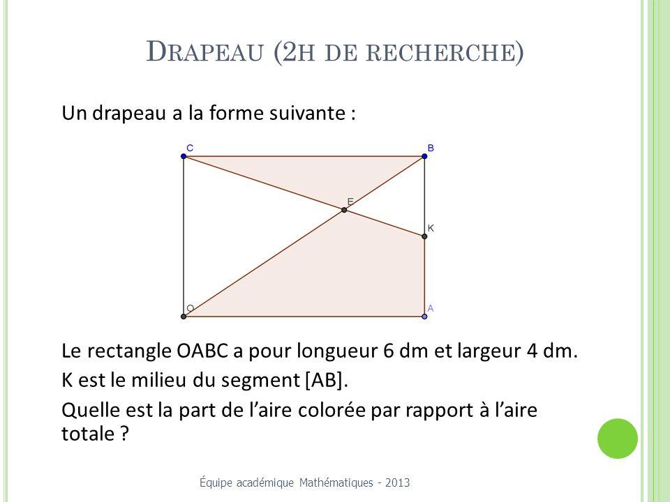 Drapeau (2h de recherche)