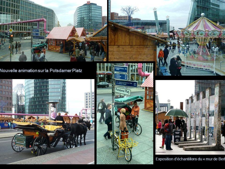 Nouvelle animation sur la Potsdamer Platz