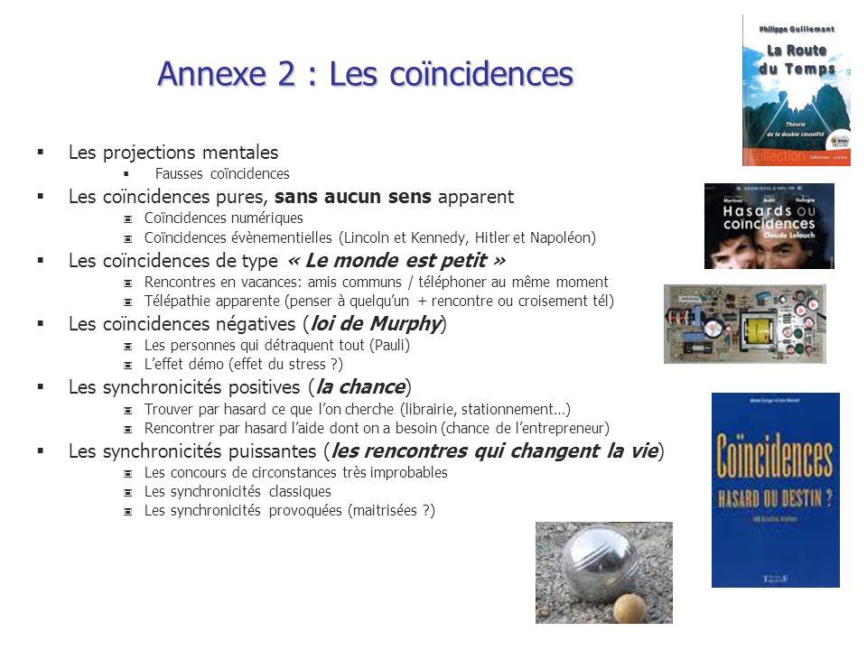Annexe 2 : Les coïncidences