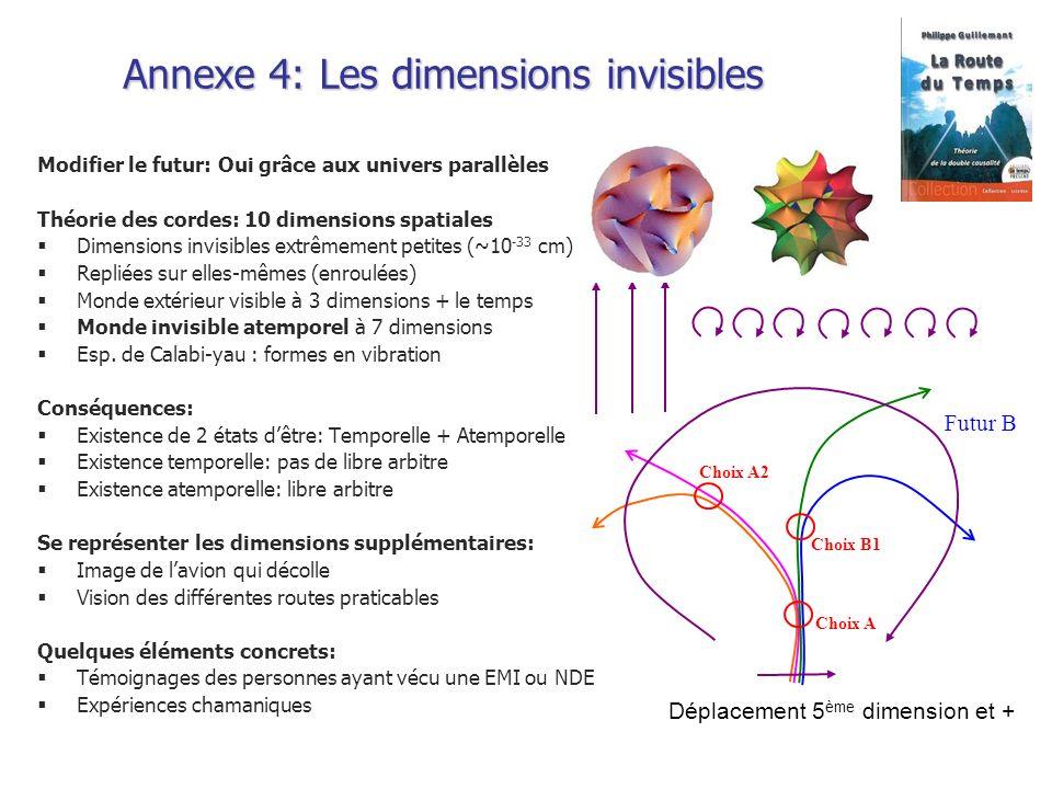 Annexe 4: Les dimensions invisibles