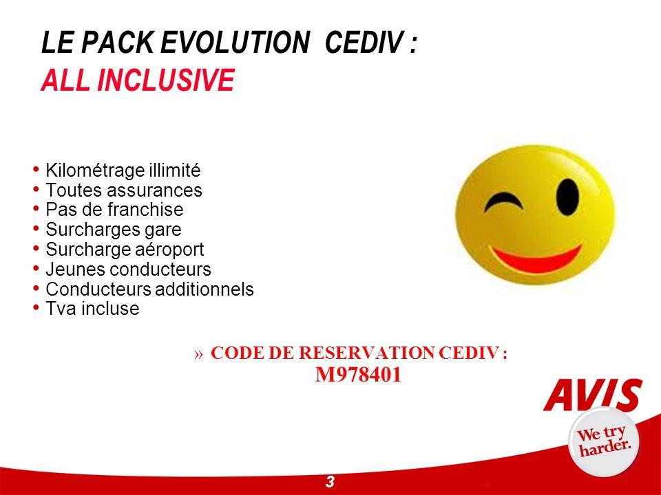 LE PACK EVOLUTION CEDIV : ALL INCLUSIVE