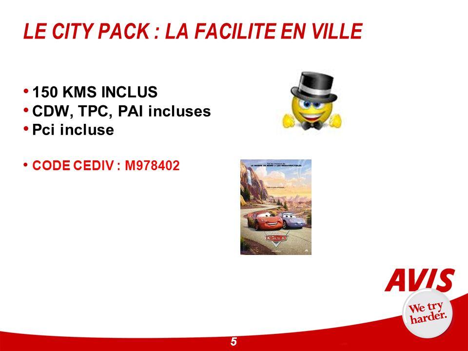 LE CITY PACK : LA FACILITE EN VILLE