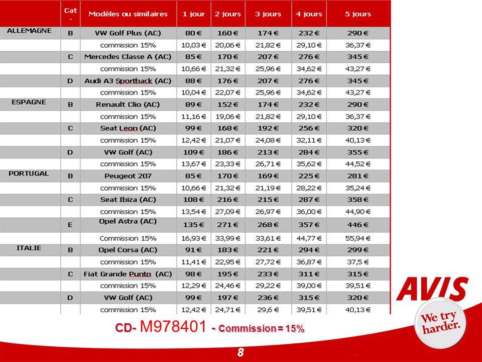 CD- M978401 - Commission = 15%
