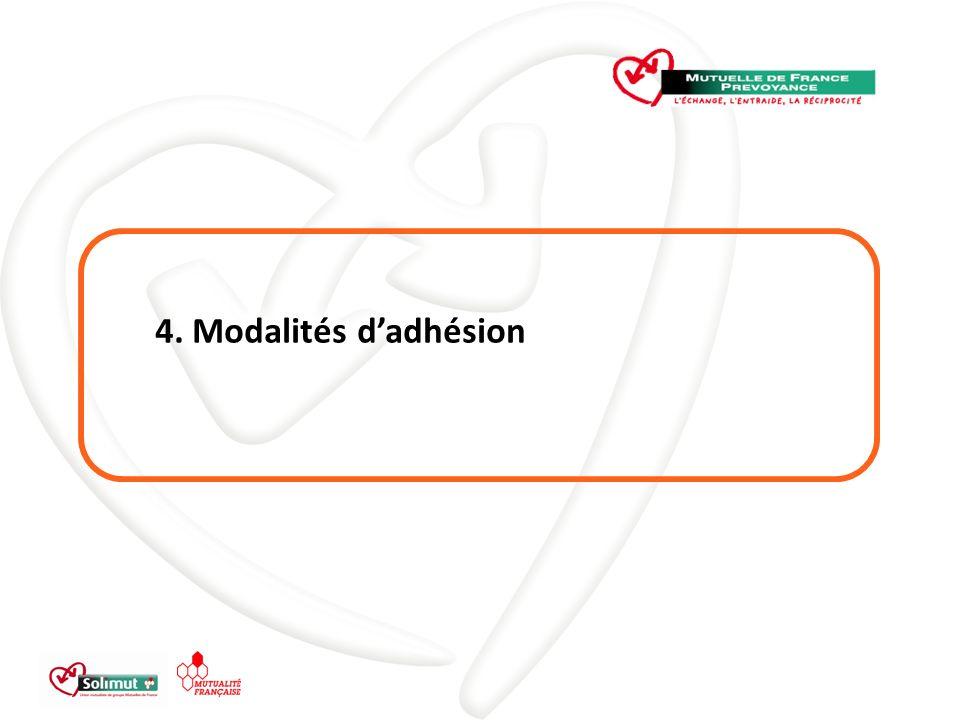 4. Modalités d'adhésion