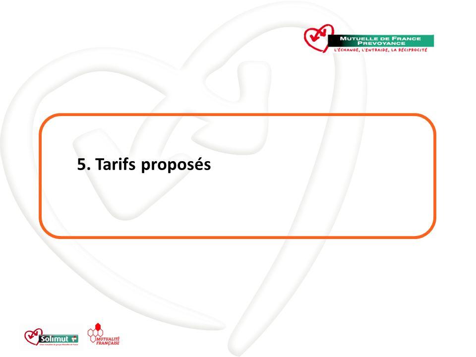 5. Tarifs proposés