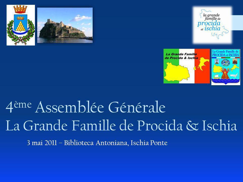4ème Assemblée Générale La Grande Famille de Procida & Ischia