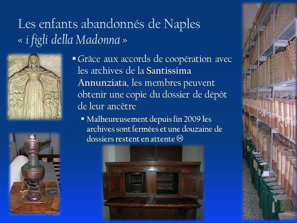 Les enfants abandonnés de Naples « i figli della Madonna »