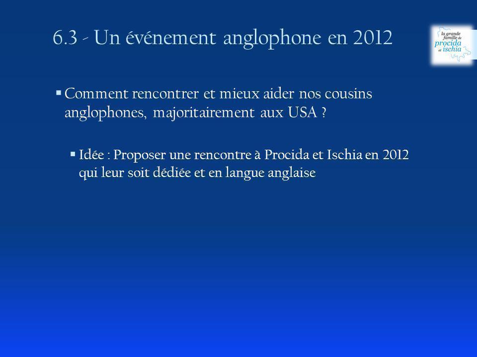 6.3 - Un événement anglophone en 2012