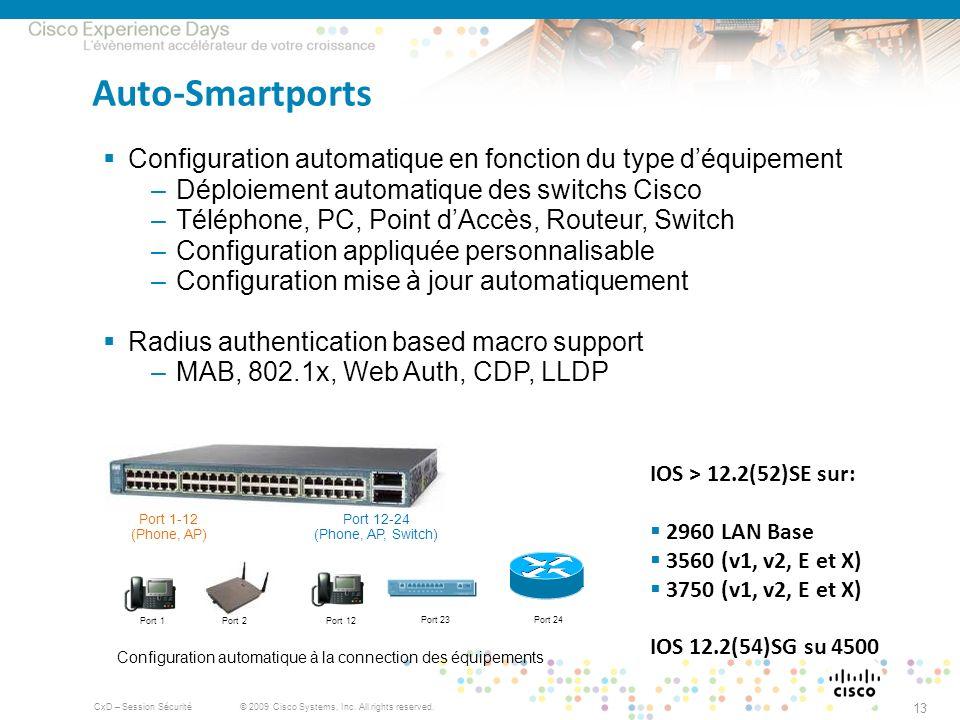 Configuration automatique à la connection des équipements