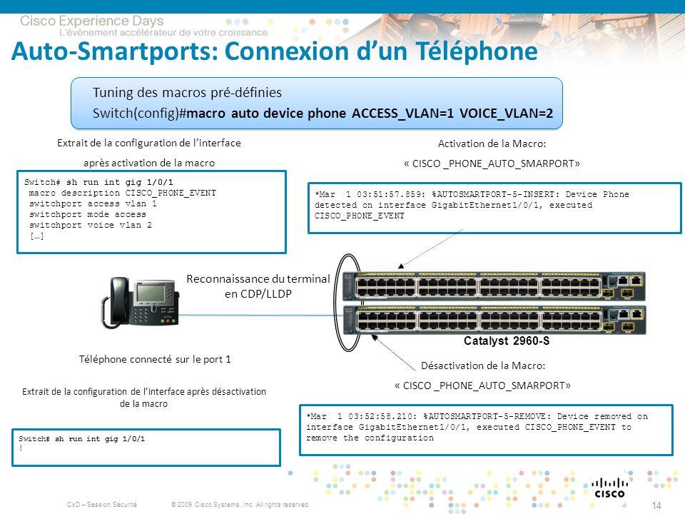 Auto-Smartports: Connexion d'un Téléphone