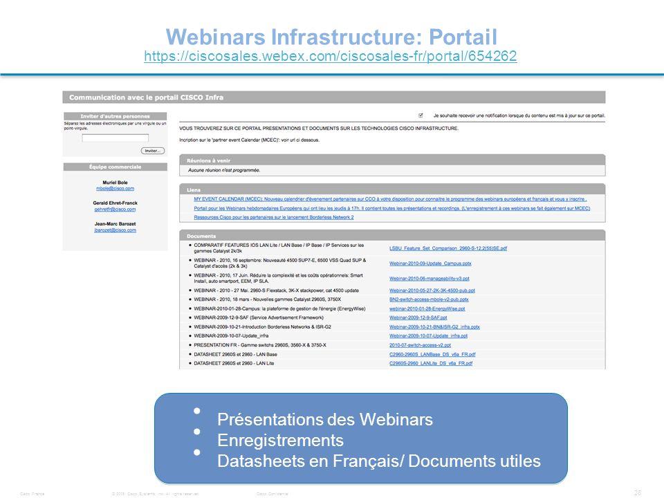 Webinars Infrastructure: Portail