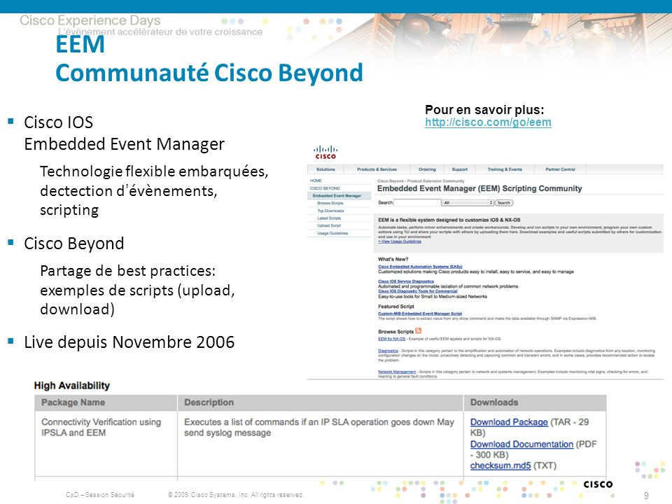 EEM Communauté Cisco Beyond