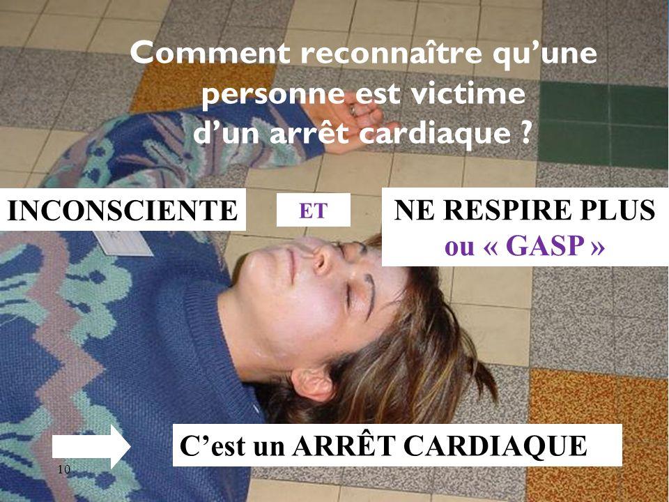 Comment reconnaître qu'une personne est victime d'un arrêt cardiaque
