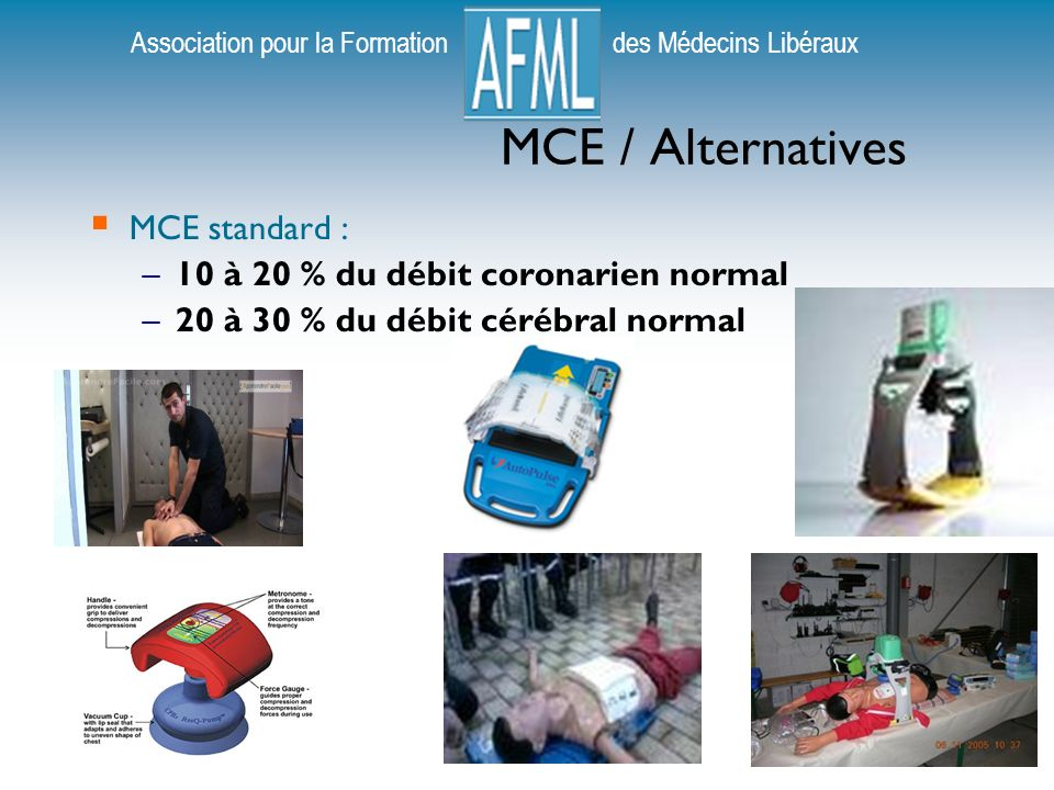 MCE / Alternatives MCE standard : 10 à 20 % du débit coronarien normal