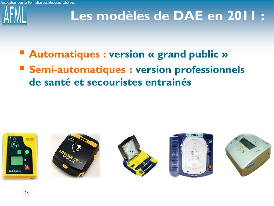 Les modèles de DAE en 2011 : Automatiques : version « grand public »