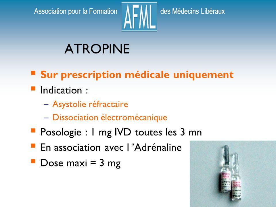ATROPINE Sur prescription médicale uniquement Indication :