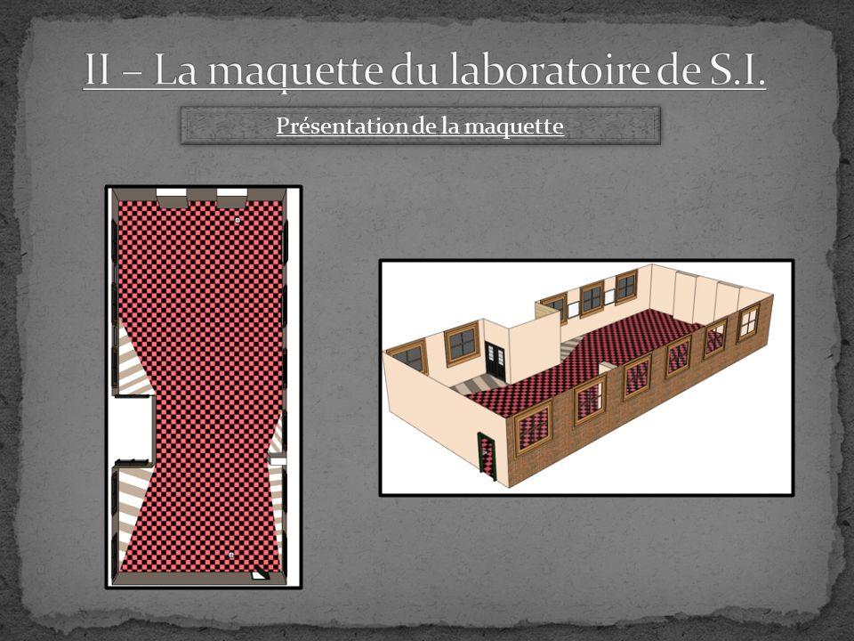 II – La maquette du laboratoire de S.I.