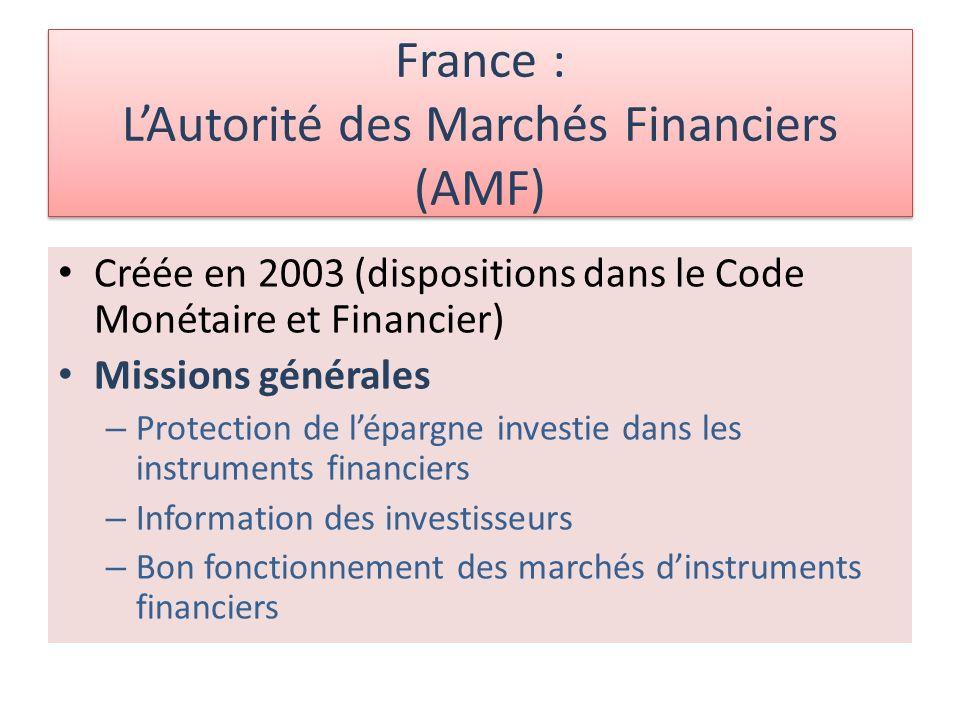 France : L'Autorité des Marchés Financiers (AMF)