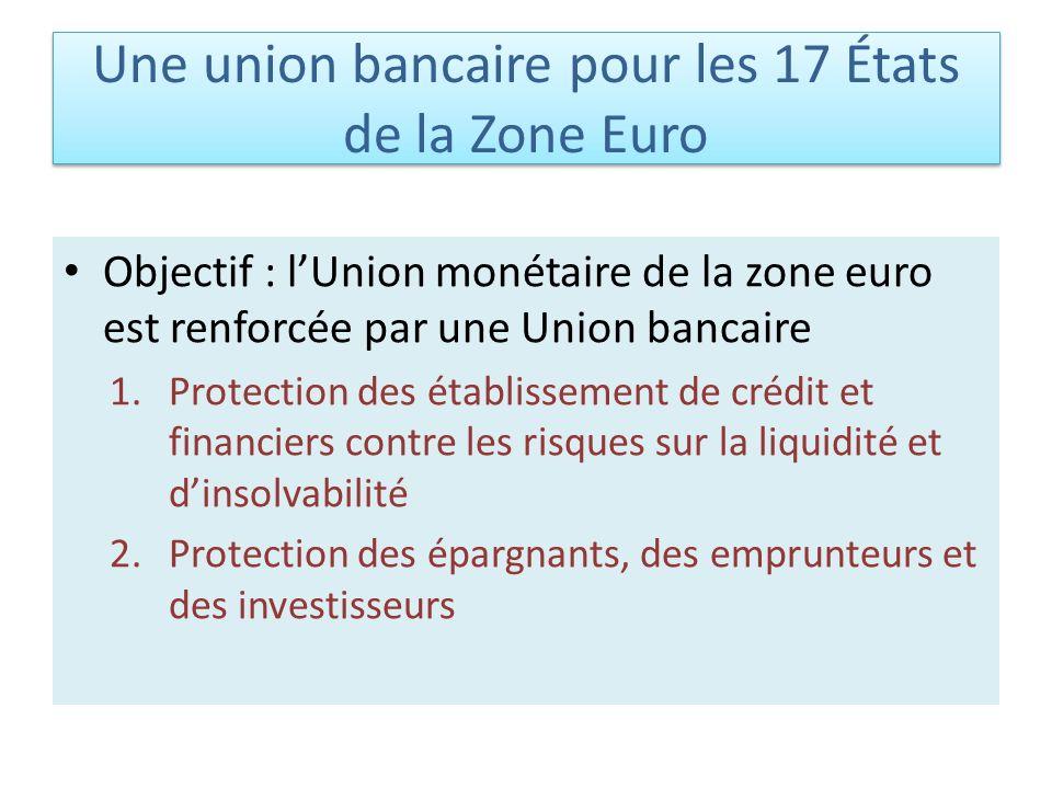 Une union bancaire pour les 17 États de la Zone Euro