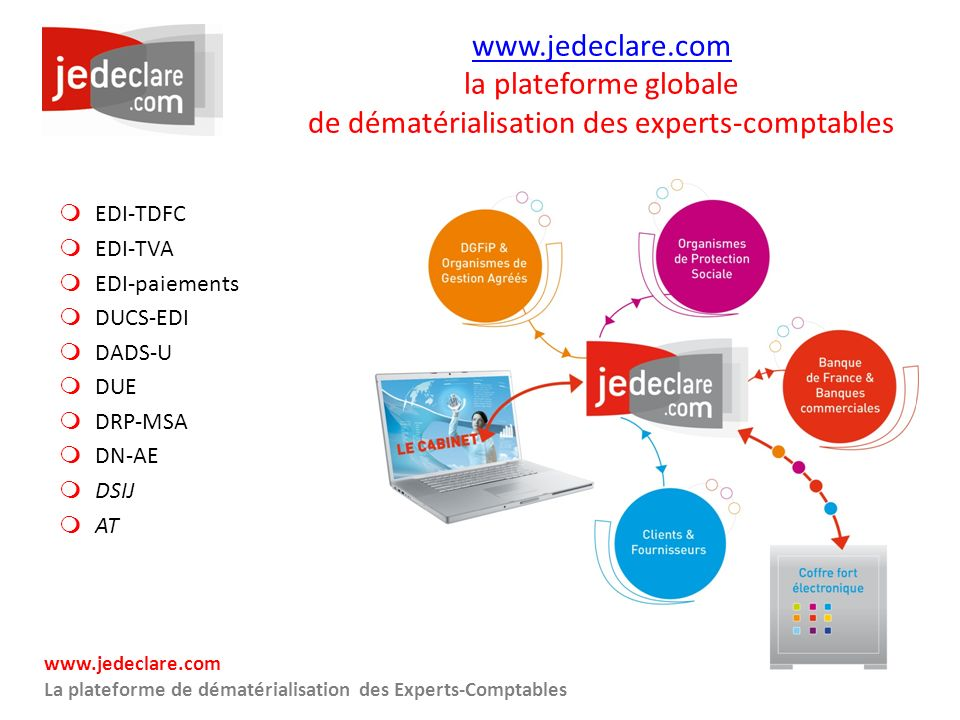www.jedeclare.com la plateforme globale de dématérialisation des experts-comptables