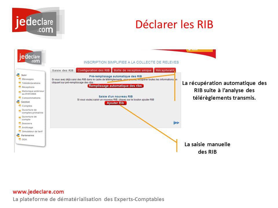 La saisie manuelle des RIB