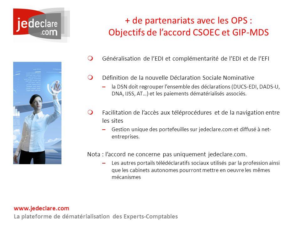+ de partenariats avec les OPS : Objectifs de l'accord CSOEC et GIP-MDS