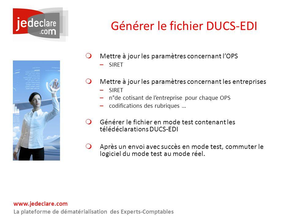 Générer le fichier DUCS-EDI