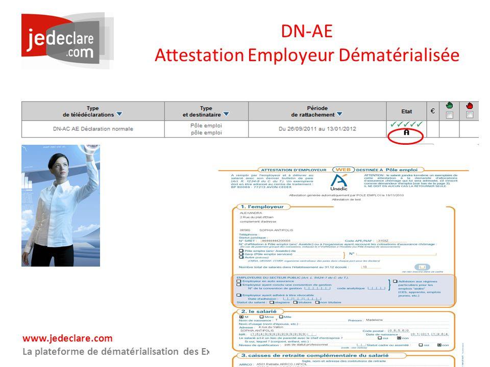 DN-AE Attestation Employeur Dématérialisée