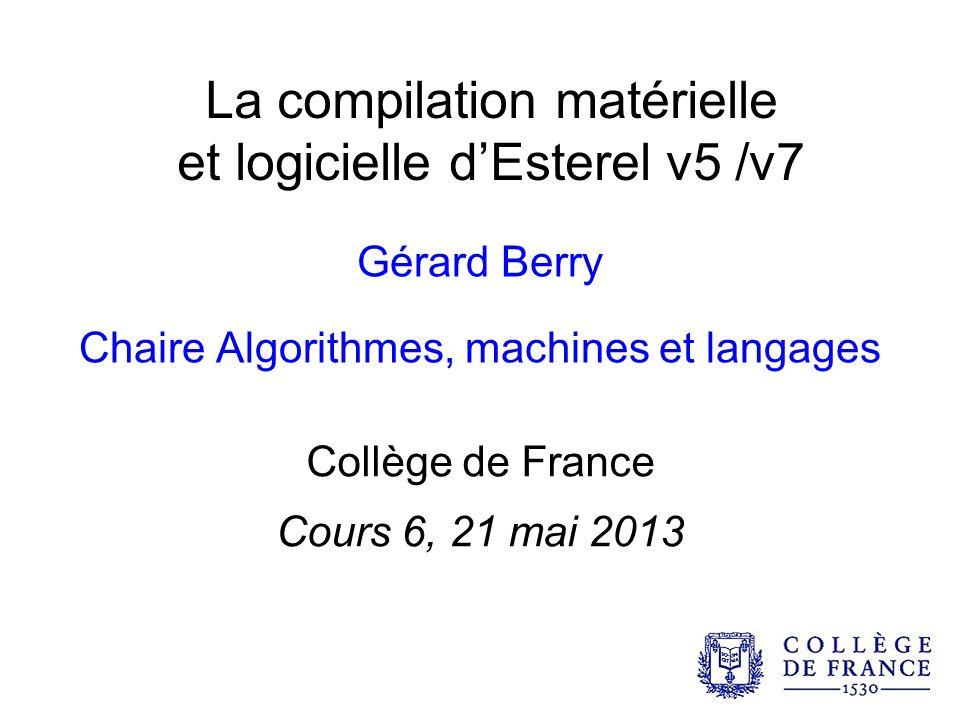La compilation matérielle et logicielle d'Esterel v5 /v7