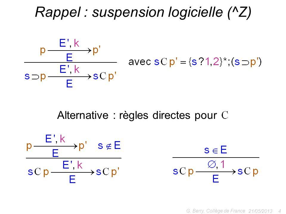 Rappel : suspension logicielle (^Z)