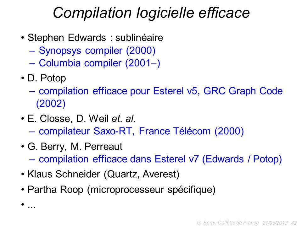 Compilation logicielle efficace