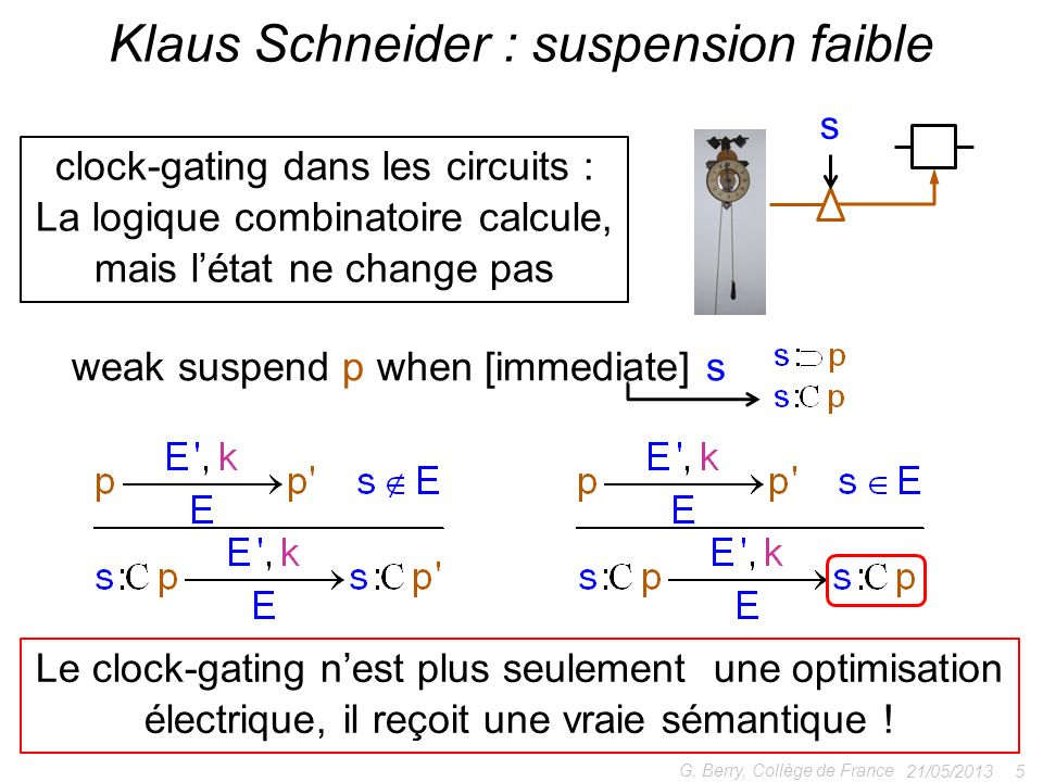 Klaus Schneider : suspension faible