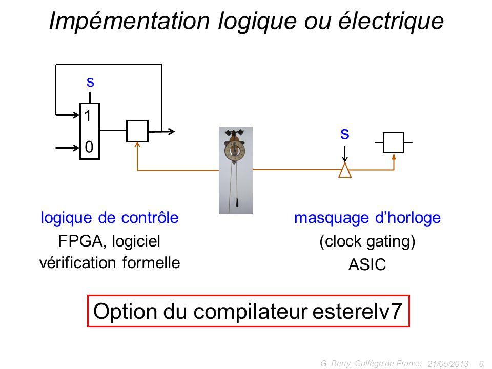 Impémentation logique ou électrique
