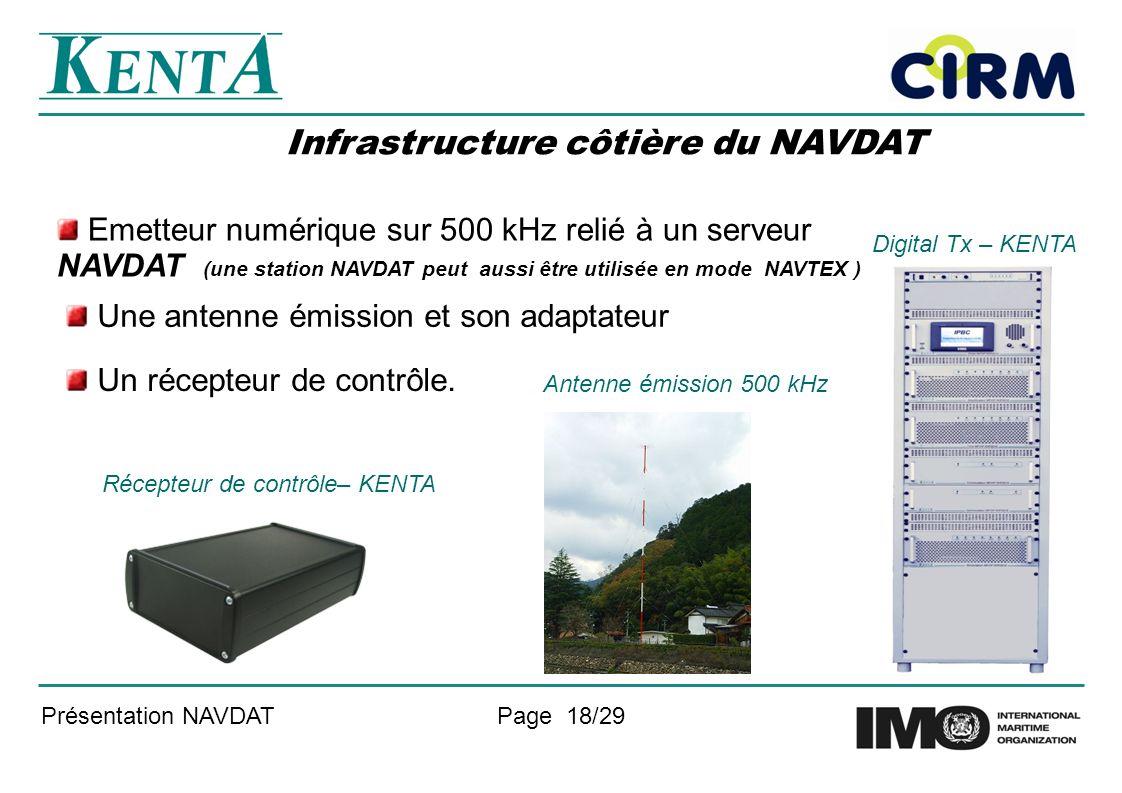 Infrastructure côtière du NAVDAT
