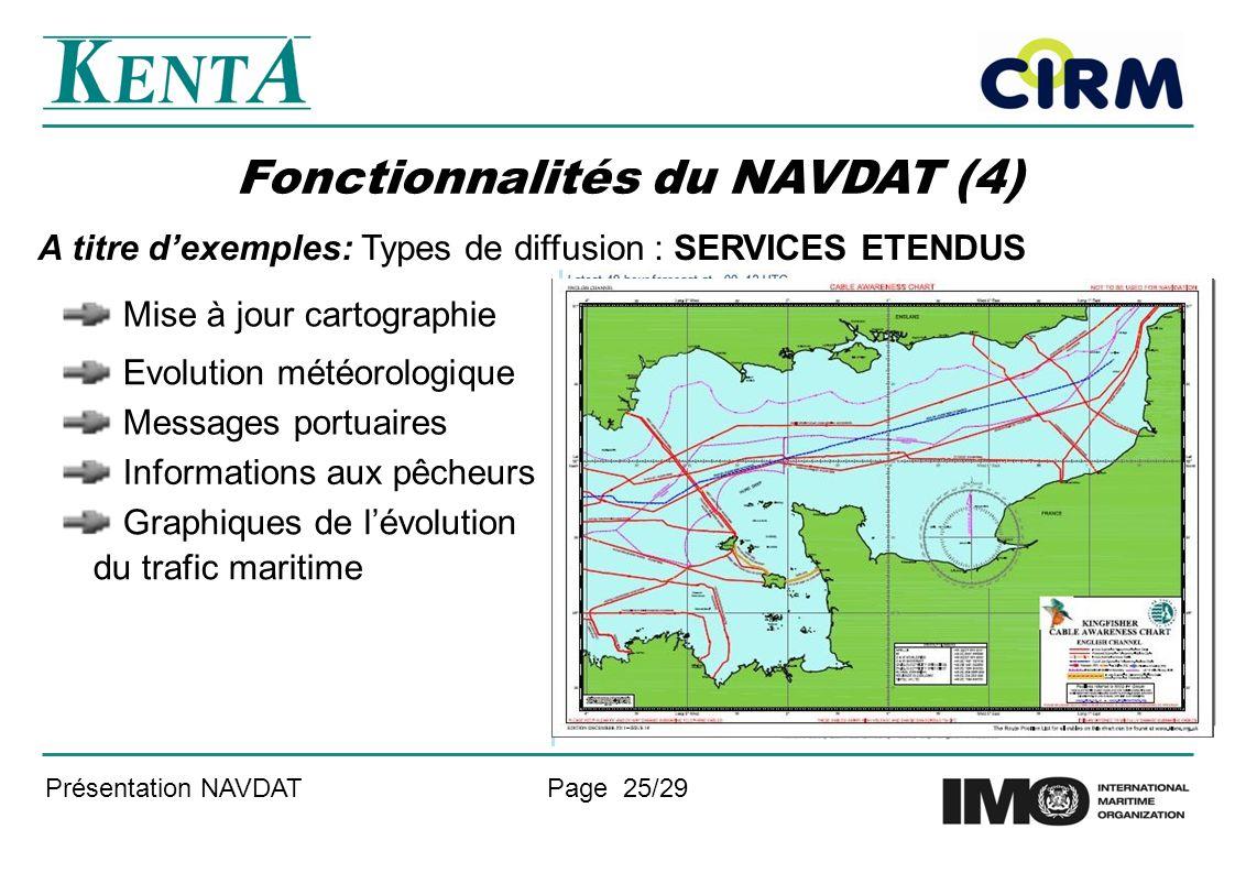 Fonctionnalités du NAVDAT (4)