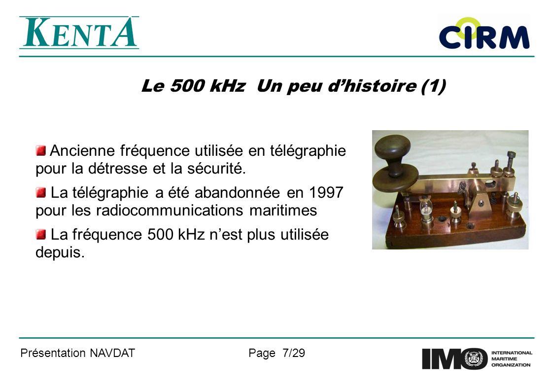 Le 500 kHz Un peu d'histoire (1)