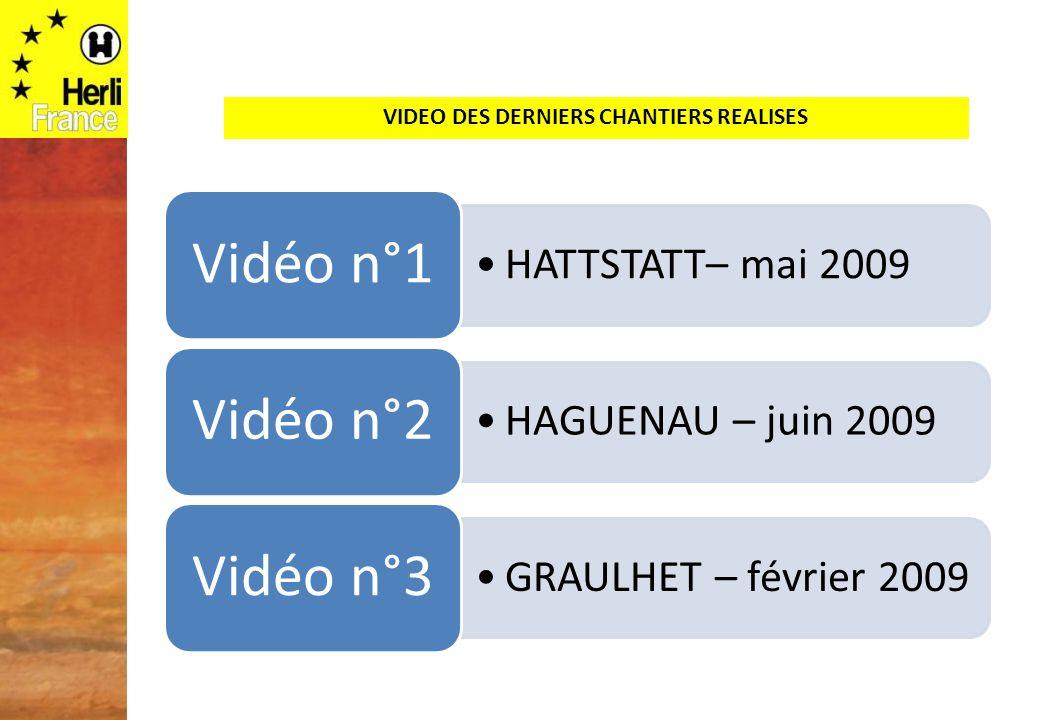 VIDEO DES DERNIERS CHANTIERS REALISES