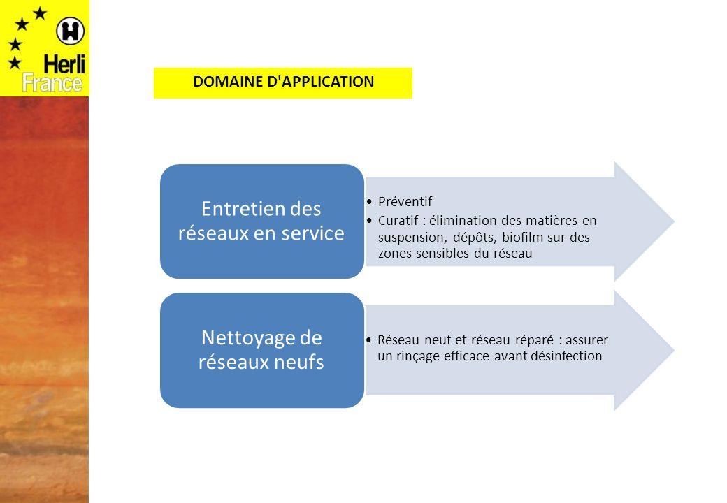 Entretien des réseaux en service Nettoyage de réseaux neufs